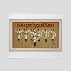 Vintage poster - Dolly Varden Throw Blanket
