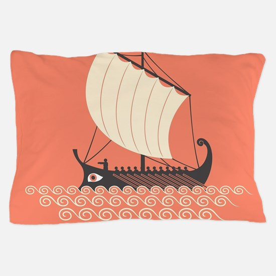 Ancient Ship Pillow Case
