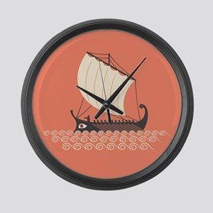 Ancient Ship Large Wall Clock