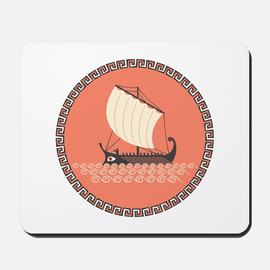 Ancient Ship Mousepad