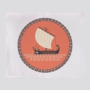 Ancient Ship Throw Blanket