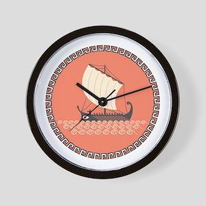 Ancient Ship Wall Clock