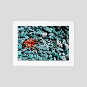 Octopus Pebbles Blue 5'x7'Area Rug