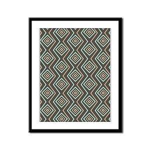 Decorative Pattern Framed Panel Print