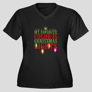 My Favorite Color Is Christmas L Plus Size T-Shirt
