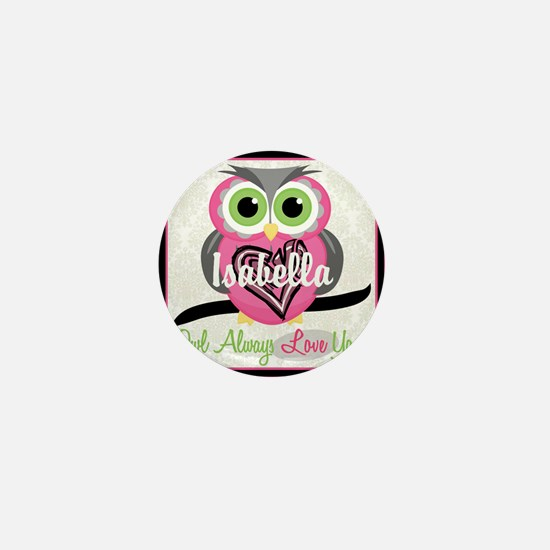 Always Love You Personalize Owl Mini Button (10 pa