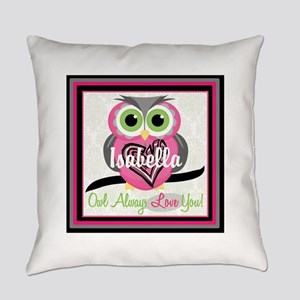 Always Love You Personalize Owl Everyday Pillow