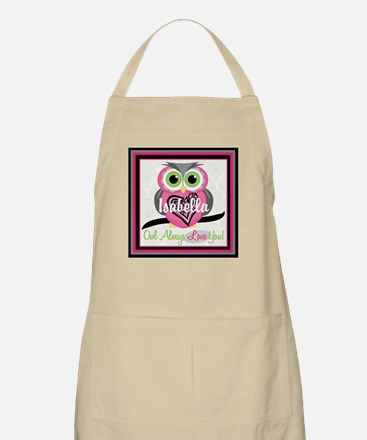 Always Love You Personalize Owl Light Apron