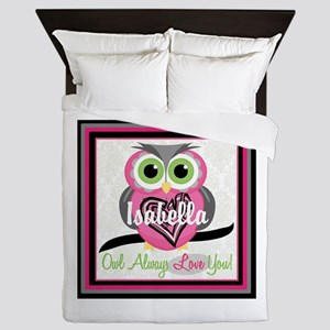 Always Love You Personalize Owl Queen Duvet