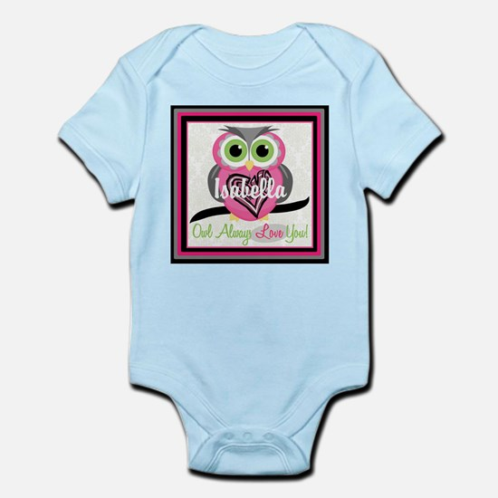 Always Love You Personalize Owl Body Suit
