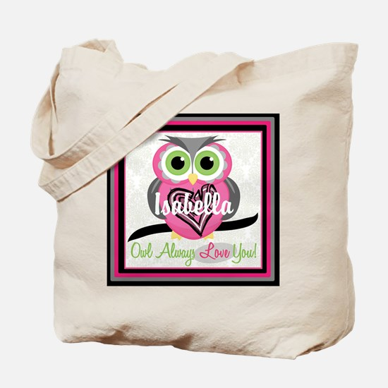 Always Love You Personalize Owl Tote Bag