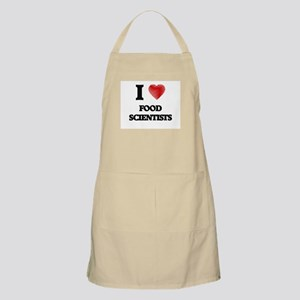 I love Food Scientists (Heart made from word Apron