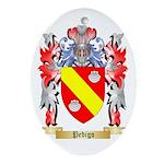 Pedigo Oval Ornament
