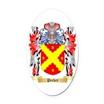 Pecker Oval Car Magnet