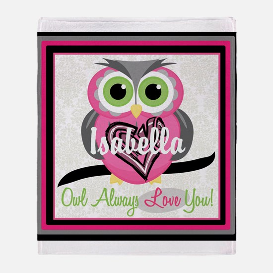 Always Love You Personalize Owl Throw Blanket