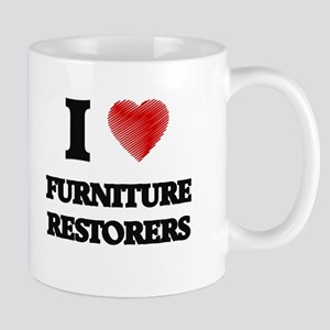 I love Furniture Restorers (Heart made from w Mugs