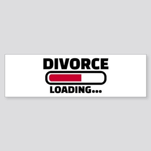 Divorce loading Sticker (Bumper)