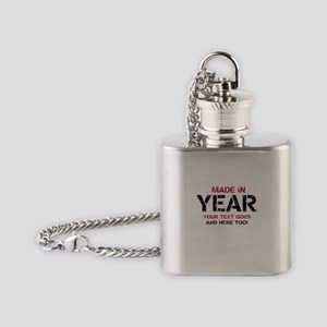 Birthday Made In Your Text Distressed Flask Neckla