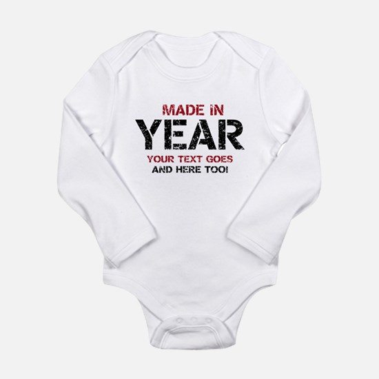 Birthday Made In Your Text Distressed Body Suit