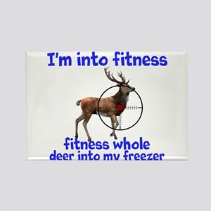 Hunting: fitness humor Magnets