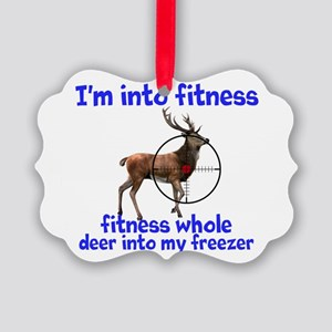 Hunting: fitness humor Ornament