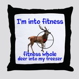 Hunting: fitness humor Throw Pillow