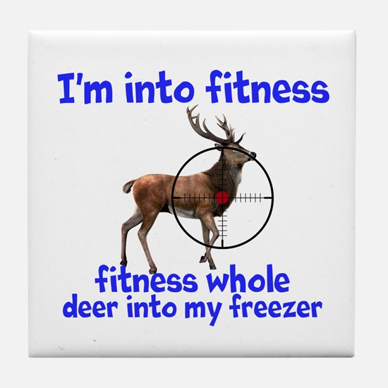 Hunting: Fitness Humor Tile Coaster