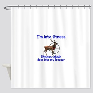Hunting: fitness humor Shower Curtain