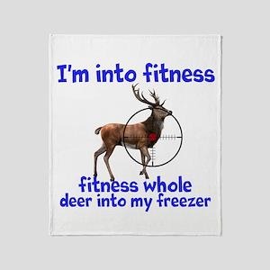 Hunting: Fitness Humor Throw Blanket