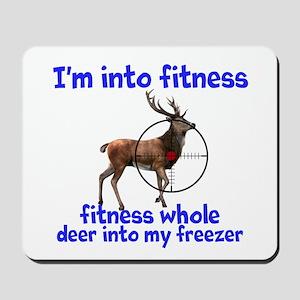 Hunting: fitness humor Mousepad
