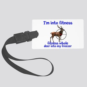Hunting: fitness humor Luggage Tag