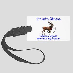 Hunting: fitness humor Luggage Tag