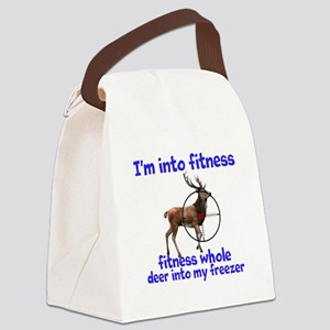 Hunting: fitness humor Canvas Lunch Bag