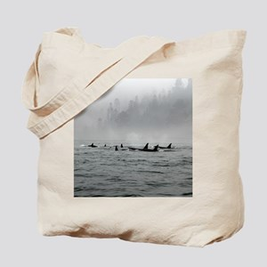Passing Whales Tote Bag