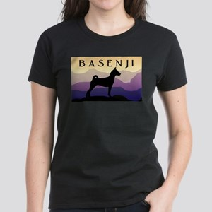 Basenji Purple Mountains Women's Dark T-Shirt