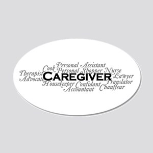 Caregiver 20x12 Oval Wall Decal
