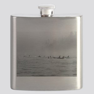 Passing Whales Flask
