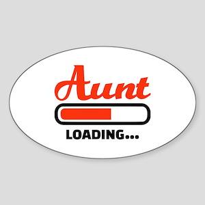 Aunt loading Sticker (Oval)