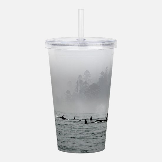 Passing Whales Acrylic Double-wall Tumbler