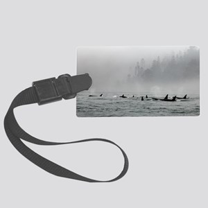 Passing Whales Large Luggage Tag
