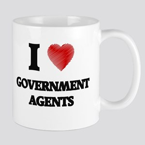 I love Government Agents (Heart made from wor Mugs