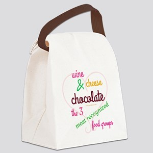 3 Best Food Groups Canvas Lunch Bag