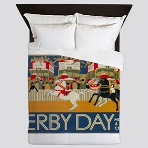 Vintage poster - Derby Day Queen Duvet