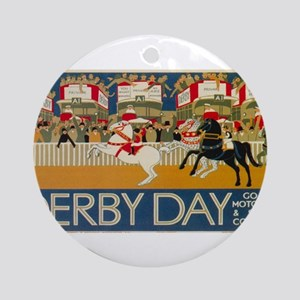 Vintage poster - Derby Day Round Ornament