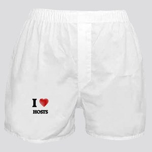I love Hosts (Heart made from words) Boxer Shorts