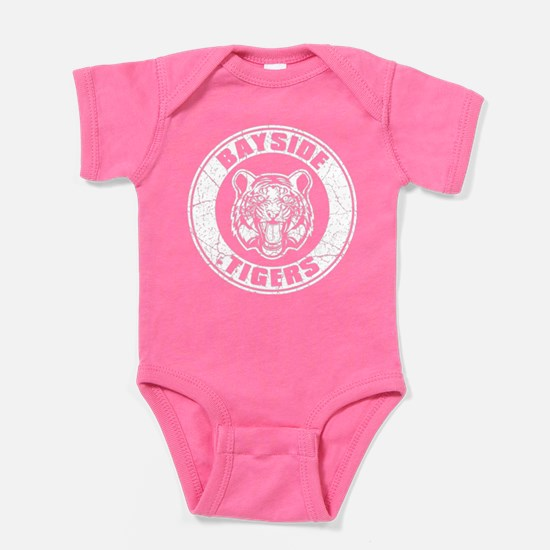 Bayside Tigers Retro Circle (Dark) Baby Bodysuit
