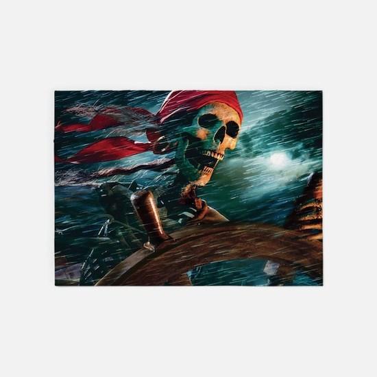 Undead Pirate 5'x7'Area Rug