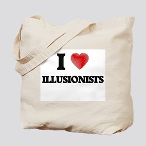 I love Illusionists (Heart made from word Tote Bag