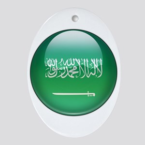 Saudi Arabia Flag Jewel Oval Ornament