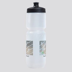 CUSTOMIZE Add 2 Photos 2 Texts Sports Bottle
